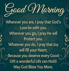 Good Morning (Prayer)