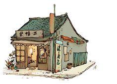 Tokyo Shop by Qin Leng - INPRNT