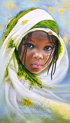 The most beautiful portraits of African children Black Love Art, Black Girl Art, Art Girl, Arte Black, Afrique Art, African Art Paintings, Black Art Pictures, African Children, African American Art