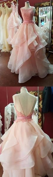 Ball Gown Backless Prom Dresses,Long Prom Dresses,Cheap Prom Dresses,Evening Dress Prom Gowns,Custom Formal Women Dress