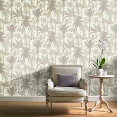 Grandeco Botanical Trees Pattern Wallpaper Forest Leaf Modern Metallic Textured BA2302