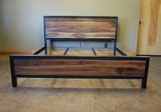 Kraftig Bed Number 4 with Walnut by deliafurniture on Etsy