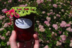 Crocheted Jam Jar Covers for gifts