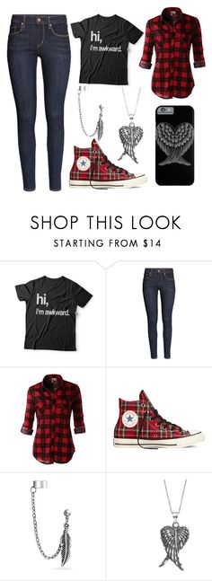 """Hi, I'm Awkward"" by dreamsofwonderlandx ❤ liked on Polyvore featuring H&M, LE3NO, Converse, Bling Jewelry and Journee Collection"