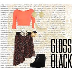 """""""Gloss black"""" by niallersprincess1327 on Polyvore"""