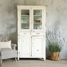 Fabulous White Vintage Cabinet