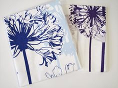 Allium and Agapanthus Tea Towel set. $30.00, via Etsy.