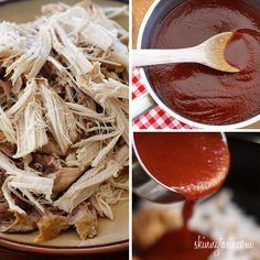Warning: this smells incredible while it slow cooks all day! Pulled pork is one of those dishes you can serve all year round. It's perfect for pot lucks or large gatherings because you can feed a crowd without slaving in the kitchen. I came up with this leaner version using boneless pork loin roast and homemade BBQ sauce which gave me complete control of what was added. I'm not a fan of pulled pork that is swimming in sauce, so I use just enough to flavor the pork along with the reserve...