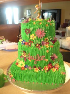 Tinkerbell cake for Taylor