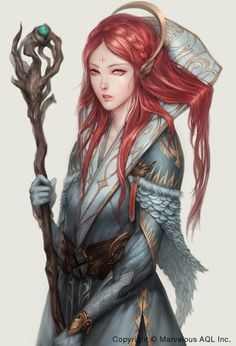 Healer by ae-rie female witch wizard cleric sorcerer sorceress staff | NOT OUR ART -