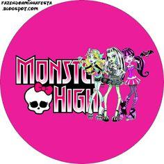 Monster High: Etiquetas para Imprimir Gratis.