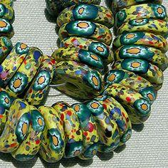 Antique Venetian millefiori African trade beads