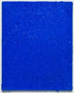 Roger Hiorns . Untitled, 2015 . Copper sulphate on canvas (Chalcanthite)