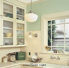 Love The High Tile Backsplash Cottage Kitchen Inspiration1920s Kitchenvintage Kitchenschoolhouse Lightwhite
