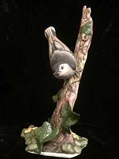 RARE Boehm Limited Edition Nuthatch Bird Sculpture 469 - Signed