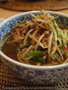 辛くて美味しい!簡単!手作り台湾ラーメン by meson2009 ... Japchae, Ramen, Chili, Spaghetti, Soup, Ethnic Recipes, Junk Food, Japanese Food, Chile
