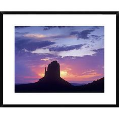 Global Gallery East and West Mittens, Buttes at Sunrise, Monument Valley, Arizona by Tim Fitzharris Framed Photographic Print Size: