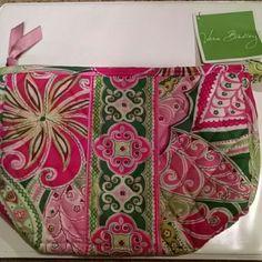 Vera Bradley Pinwheel Pink Handbag Zipper hand clutch with two pull out pockets and one zipper pocket inside Vera Bradley Bags Clutches & Wristlets