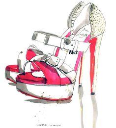 louboutin shoe illustration | Christian Louboutin Shoes – Patrick Morgan – Illustrators ...