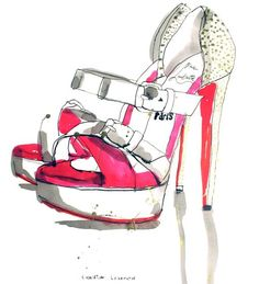 louboutin shoe illustration | Christian Louboutin Shoes – Patrick Morgan – Illustrators ...