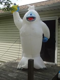 Carousels outdoor christmas decorations and outdoor for Abominable snowman outdoor decoration