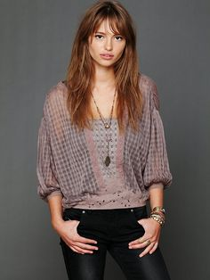 Free People FP New Romantics Neverland Blouse at Free People Clothing Boutique