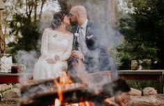 Barn wedding in Michigan.  Chicago wedding  Bon fire.  Snores ideas for wedding. Fall wedding. #barnwedding #michiganbarnwedding