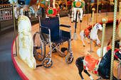 Coolest thing I've seen in awhile!  Wheelchair space on a carousel.  Burnaby Heritage Village Carousel