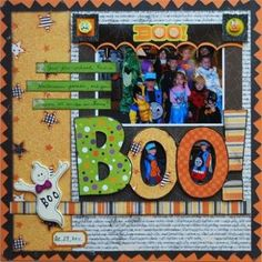 Halloween Scrapbook Idea