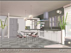 Kitchen and Dining by Ung999 One Room Living third part 16 items - Sims 3 Downloads CC Caboodle