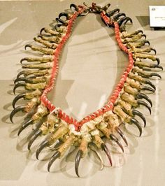 Phenomenal new Paul Dyck Plains Indian Buffalo Culture Collection at the Buffalo Bill Center of the West! LOVED that place! This necklace is made from Eagle Talons!! Real artifact from 1700-1800s!