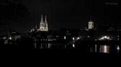 Regensburg, Schwarz-Weiss.