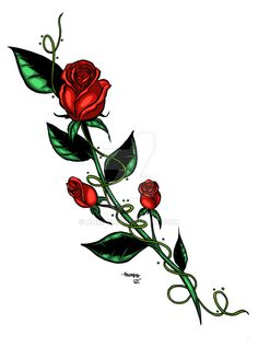 Rose Tattoo Design by Anmph on DeviantArt – foot tattoos for women flowers Rose Bud Tattoo, Rose Vine Tattoos, Rose Drawing Tattoo, Cross Tattoo Designs, Flower Tattoo Designs, Tattoo Designs For Women, Foot Tattoos, Body Art Tattoos, Sleeve Tattoos