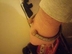 black jade crafts:  steel Viking style promise oath bracelet bangle Nordic inspiration