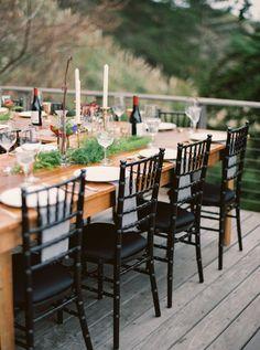 patio wedding reception - photo by Erich McVey http://ruffledblog.com/modern-bohemian-wedding-in-big-sur