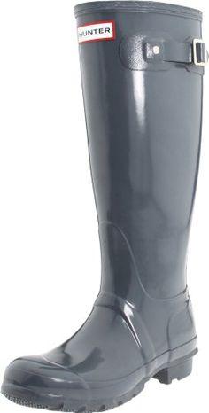 Hunter Women s Original Tall Welly Gloss Rubber Boot 4d78755a425bc