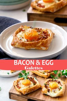 Bacon and Egg Galettes will be your new favourite breakfast or brunch! Simple to make, and so delicious - you can serve these tasty snacks hot or cold!