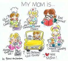 Blond moederdag