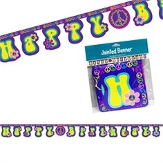 Groovy Girl Birthday Banner from Windy City Novelties