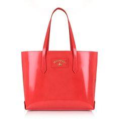 Vivienne Westwood Newcastle 7251 Large Shopping Bag ($500) ❤ liked on Polyvore featuring bags, handbags, vivienne westwood handbags, vivienne westwood, red bag, shopper handbags and red shopping bags