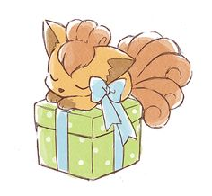 Vulpix Kuji Artwork
