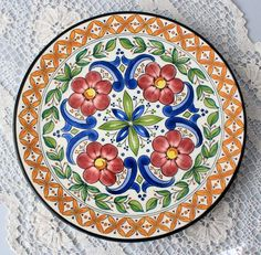 Your place to buy and sell all things handmade Plate Wall Decor, Plates On Wall, Vintage Plates, Vintage Art, Hand Painted Walls, Painted Plates, Made In Japan, Teller, Paint Designs