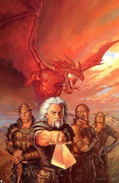 Dragonlance, Warriors Series, The Wayward Knights by Todd Lockwood.
