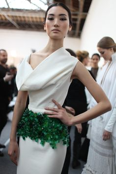 Backstage at Stéphane Rolland Spring Couture 2013  [Photo by Kuba Dabrowski]