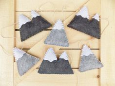 Mountain garland felt home decor bunting by sewwhimsycreations