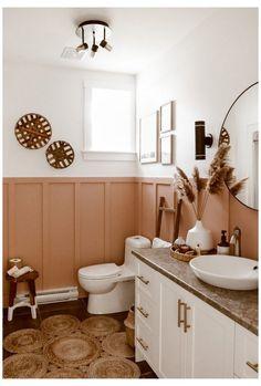 Modern Boho Bathroom, Best Bathroom Lighting, Layout, Up House, Bathroom Inspiration, Bathroom Ideas, Small Bathroom, Cozy Bathroom, Bathroom Organization