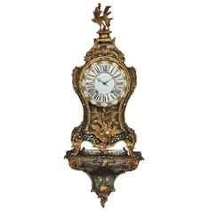 A French Louis XV boulle inlaid bracket clock, by Fortin, circa 1740 | From a unique collection of antique and modern clocks at http://www.1stdibs.com/furniture/more-furniture-collectibles/clocks/