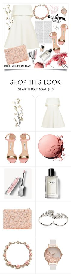 """She's Got It."" by arwitaa on Polyvore featuring Pier 1 Imports, Oris, Elizabeth and James, Manolo Blahnik, Burberry, Bobbi Brown Cosmetics, Apples & Figs and Olivia Burton"