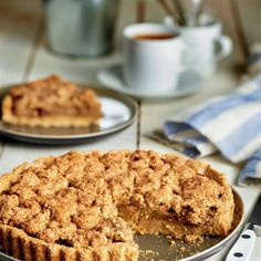 paso_a_paso_para_realizar_tarta_de_manzana_con_crumble_casero_sin_gluten_resultado_final Apple Recipes, Sweet Recipes, Low Calorie Desserts, Gluten Free Pancakes, Muffins, Good Healthy Recipes, Good Food, Dessert Recipes, Food And Drink