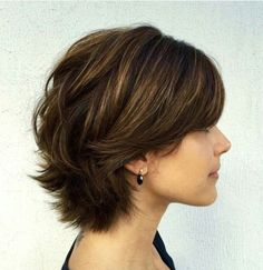 Short loose piecy shag with shattered back